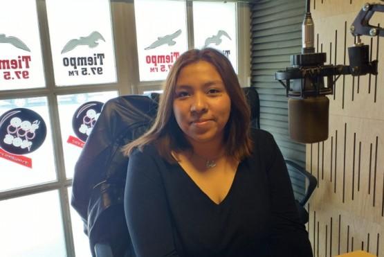 Luz Bustamante en Tiempo FM.