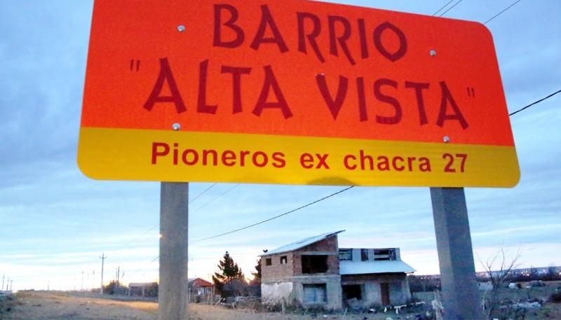 Ingreso al barrio Alta Vista