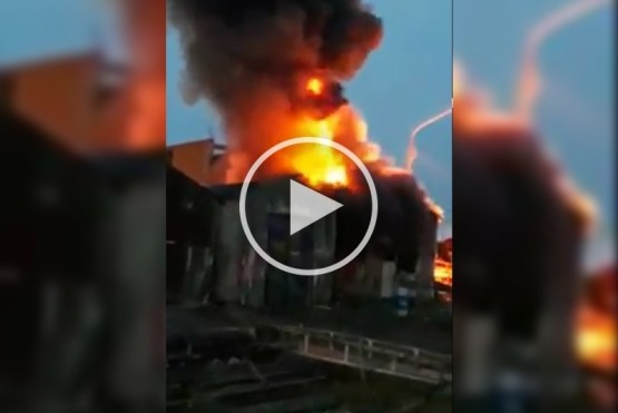 Así se vio el incendio (Captura de video).