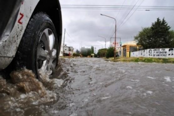 Ayer comenzaron las lluvias en Río Gallegos (Foto archivo).