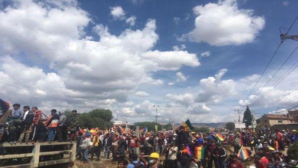 Protesta en Cochabamba.