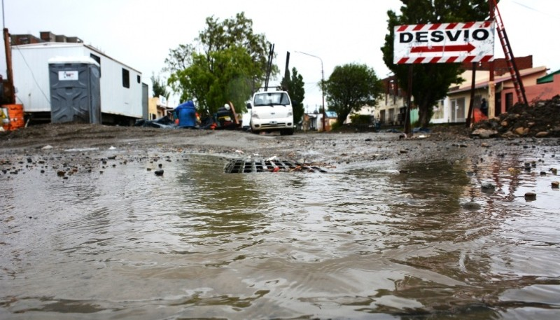 La Cuenca logró desagotar calles de la capital santacruceña. (C.R)