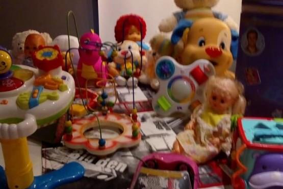 Algunos juguetes que ya juntaron.