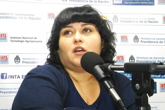 Ing. Paola Vargas, responsable técnica del grupo de producción agropecuaria de AER INTA Río Gallegos.