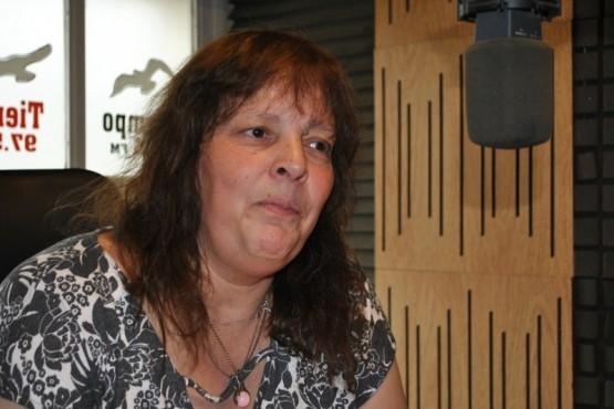 María Sanz en Tiempo FM (Foto J.C.C.)