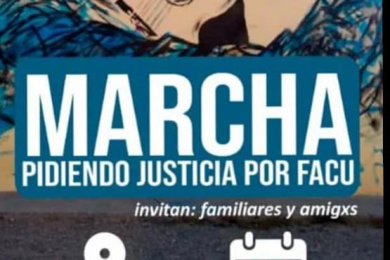 Sin banderas gremiales, llaman a marchar por Facundo