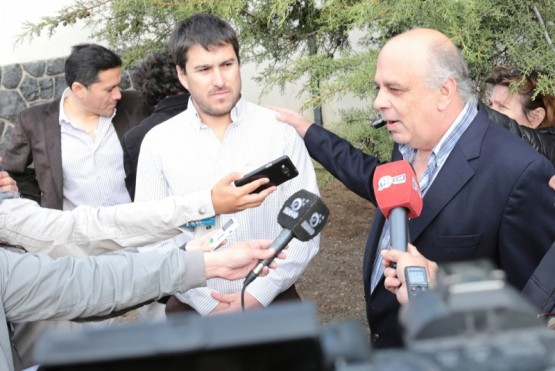 Leo Roquel junto a Roberto Giubetich (Foto archivo).