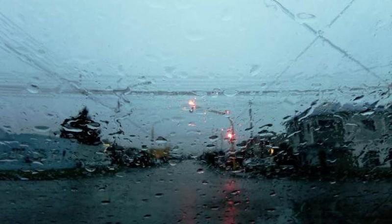 Lluvioso en Tierra del Fuego.