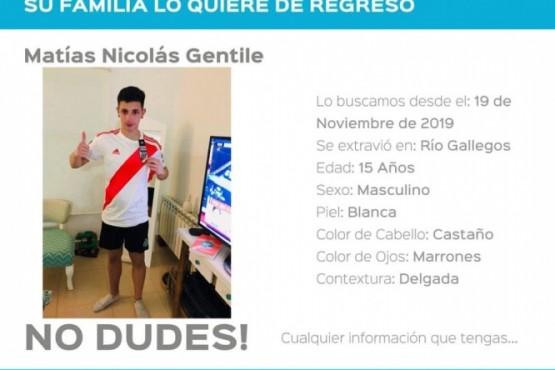 Buscan a Matías Nicolás Gentile