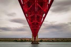 Cuándo cortarán la circulación en el puente sobre el Río Santa Cruz