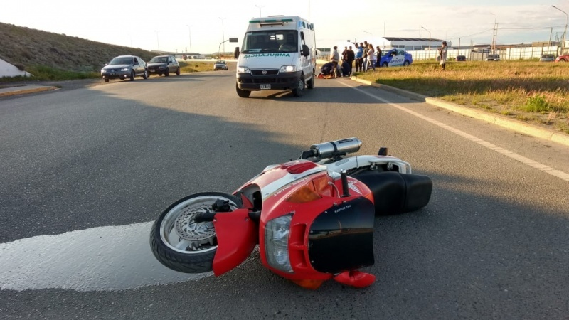 El motociclista fue trasladado al HRRG. (C.G)