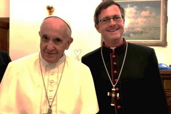 El Papa Francisco y García Cuerva. (Archivo)
