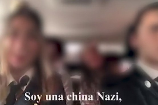 Alumnos del Colegio Colegio Modelo San Juan realizaron una parodia Nazi