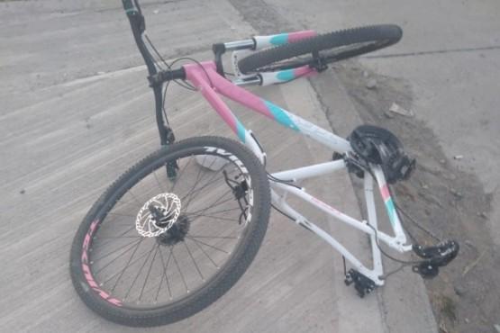 Bicicleta tras la colisión.