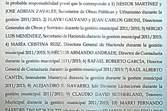 Denuncia penal presentada en julio de 2018.