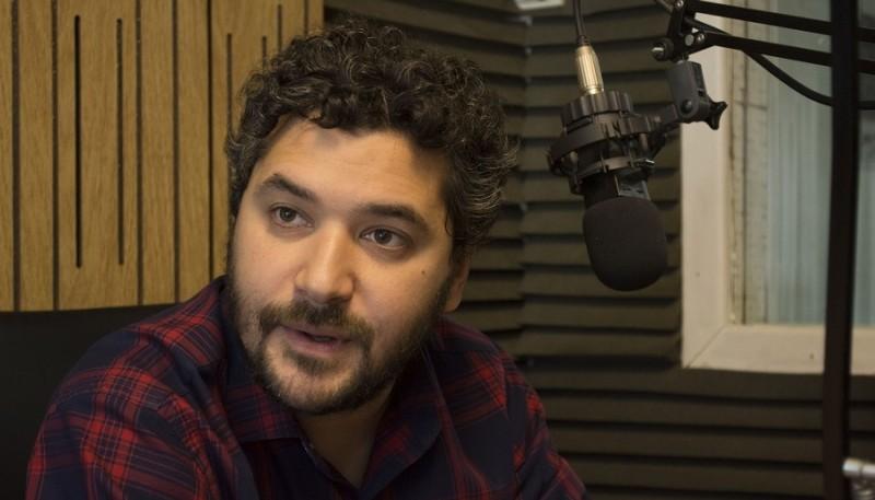 Adriel Ramos en Tiempo FM (Foto C.R.)