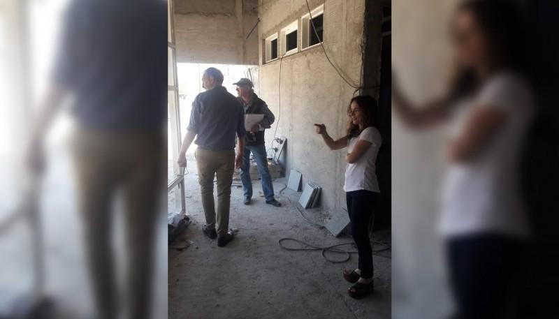 Recorrido por la obra de ampliación y remodelación del Hospital Rural de Las Plumas.