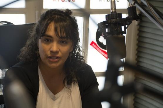 Carla Beroiz en Tiempo FM. (Foto C.R.)