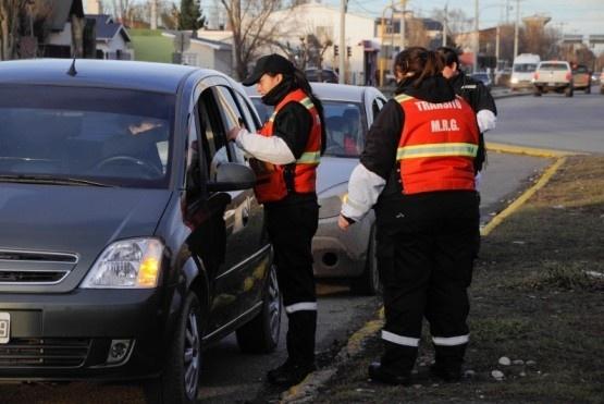 Los controles de tránsito municipal en Río Gallegos.