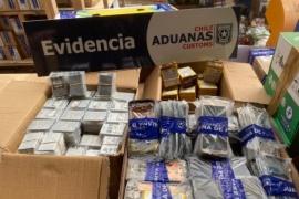 Descubren millonario contrabando de celulares y baterías