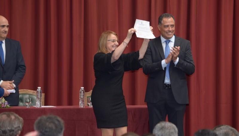 Alicia junto a Eugenio Quiroga. (C.R)
