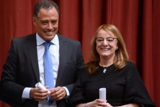 Alicia Kirchner junto a Eugenio Quiroga (Foto: C.Robledo)