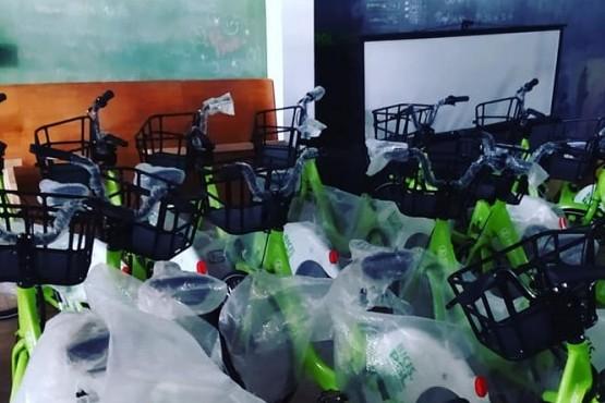 Adriel Ramos mostró más de las bicicletas públicas