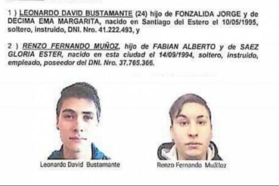 Los dos jovenes estan prófugos en la causa del crimen de Cuevas.