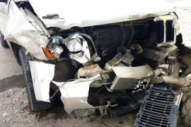 Así quedaron los autos tras el múltiple choque que causó un niño