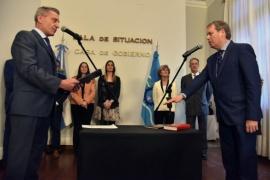 Arcioni le tomó juramento a Marcelo Lizurume