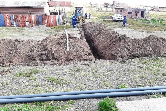 Obra de red de agua potable para el Ayres Argentinos