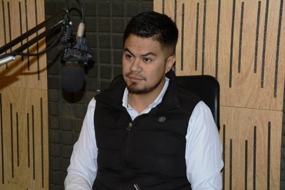 Matías Hernández en Tiempo FM. (Foto C.R.)