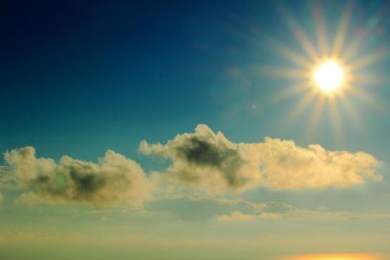 Sol y nublado en Santa Cruz.