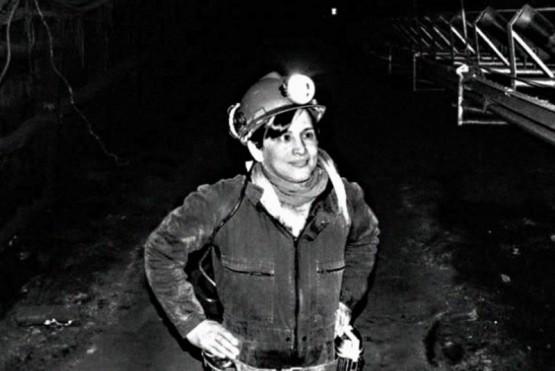 Carla Rodriguez es la primera mujer trans en el interior de la mina de Río Turbio. (A. Alaniz)