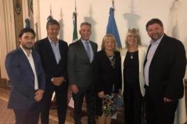 Arcioni acompañó a los diputados nacionales por Chubut