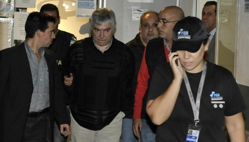 El día que fue detenido Lázaro Báez (Foto archivo).