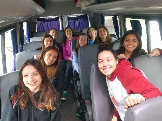 Las chicas en viaje.