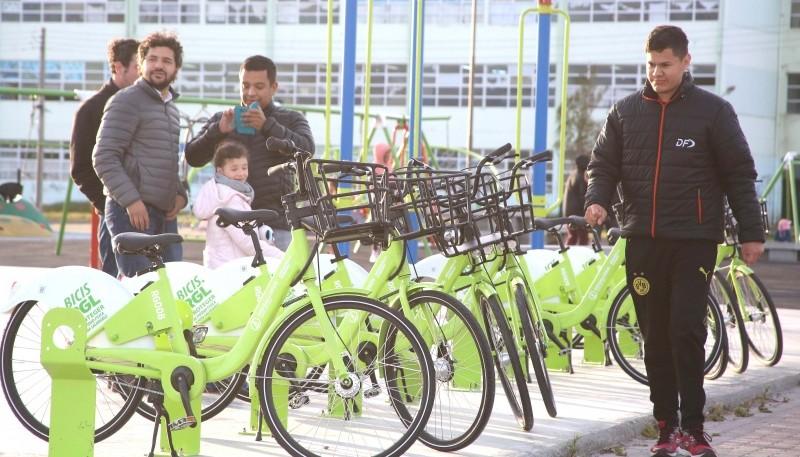 Las nuevas bicicletas.