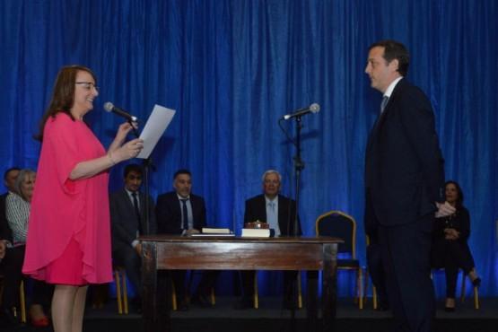 Alicia junto a Ignacio Perincioli.