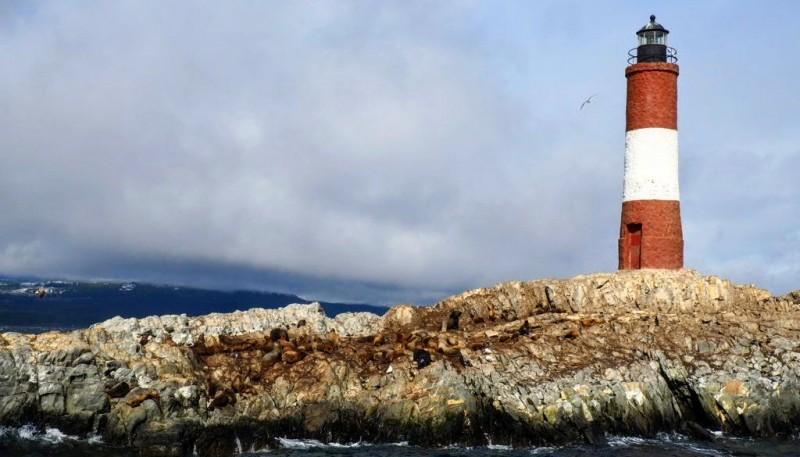 El faro en Ushuaia.