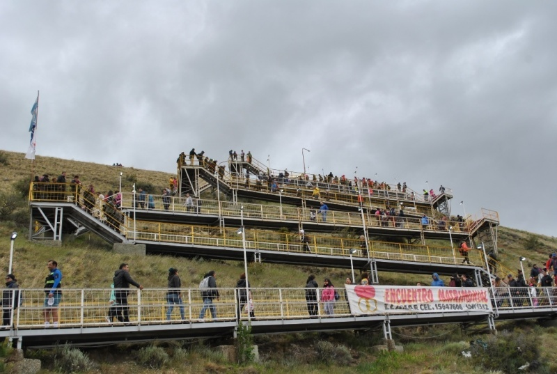 Se vivió la 39 peregrinación a la virgen de Güer Aike. (Fotos Juan Cruz Cattaneo).
