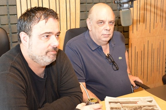 Giubetich y Caminiti en Tiempo FM (Foto C.Robledo)
