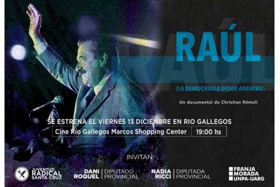 Se proyectará la película de Ricardo Alfonsín