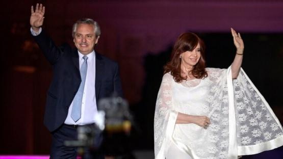 Alberto junto a Cristina. (AFP)