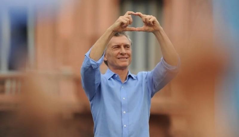 Mauricio Macri en su despedida el sábado.