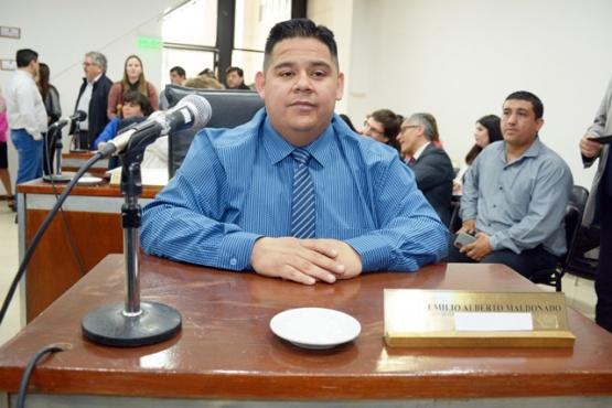 Emilio Maldonado, cuando era concejal (archivo),