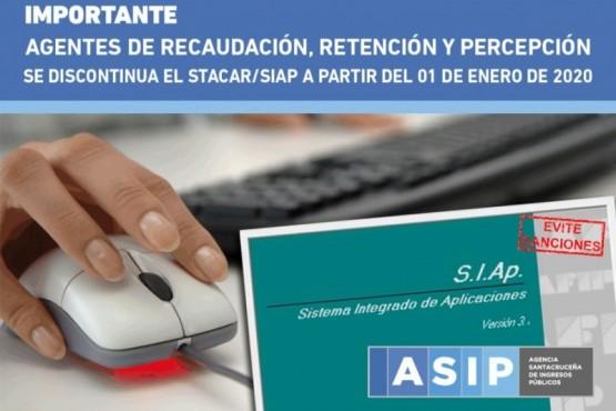 ASIP discontinúa el uso de STACAR