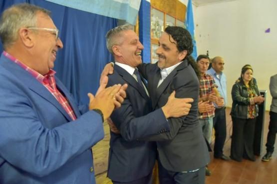 Arcioni junto a Pérez.
