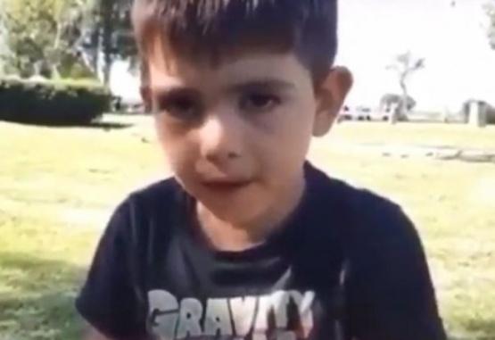 Captura de video del nene que le hizo un gracioso pedido al Ratón Pérez.
