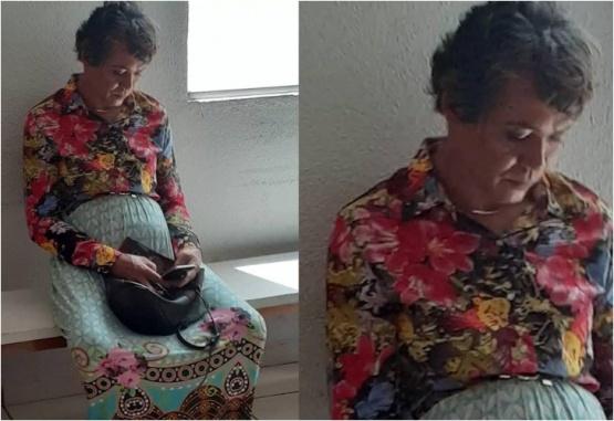 Las imágenes del hombre disfrazado de mujer fueron publicadas por la Policía local.